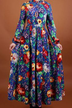 ROMWE | Romwe Digital Floral Print Long-sleeved Maxi Dress, The Latest Street Fashion