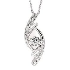 Shimmering Diamonds® Pendant In 14K Gold With 1/3 Ctw. Diamonds by Ostbye. SD15P13