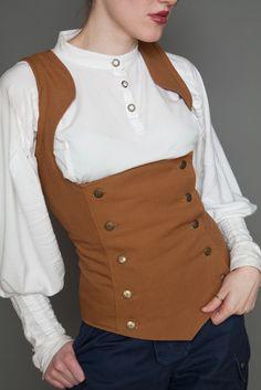 Teasdale under-bust Vest Caramel SIZE 8h 36x34x39 by Lastwear