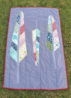 Feather Quilt -- Fabric Mutt