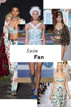 The 11 Runway Trends of Spring 2017. Bikini tops, high waisted briefs and body suits (swiimming costumes) used in every day styling