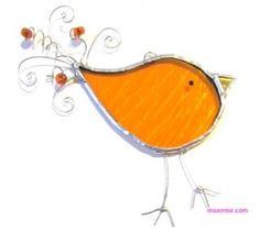 Stained Glass Funky Birds - moxnme.com