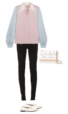 """""""Untitled #216"""" by fadirasalsa on Polyvore featuring Balmain, AlexaChung, Gucci and Philipp Plein"""