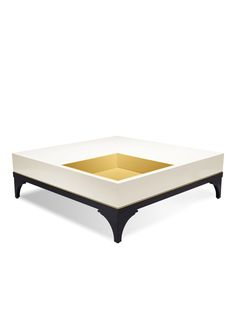 we believe that, no matter how functional, every piece in your home should have personality. like this bold coffee table with an inset brass tray--it's a place to display art books, objects, curiosities and treasures acquired near and far.
