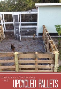 The Homestead Survival | Build a Wood Pallet Homesteading Chicken Coop Run Project | http://thehomesteadsurvival.com: