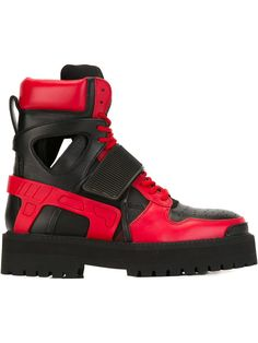 Hood By Air 'avalanche' Boots In Black High Top Sneakers, Shoes Sneakers, Hood By Air, Designer Shoes, Red Leather, Air Jordans, Brand New, Flats, Unisex
