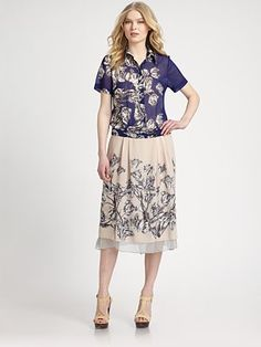 10 Crosby Derek Lam  Floral Drop-Waist Dress