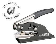 ExcelMark Hand Held Embosser - The Library Of - Style 39