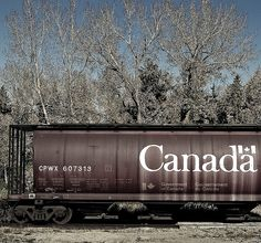 The sound of trains at night reminds me of my childhood in Ontario. We don't get too many passing thru Yellowknife - lol! Train Car, Train Tracks, Cool Countries, Countries Of The World, I Am Canadian, Canadian Bacon, Canada Eh, Canada Rail, All About Canada