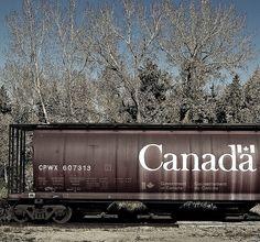 Canadian Grain Car. Canadian National Railway, or, Canadian Pacific Railway.