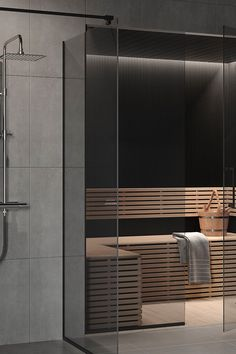 Sauna Design, Grey Glass, Dream Bathrooms, Traditional Bathroom, Blinds, Wellness, Curtains, Mansions, Furniture