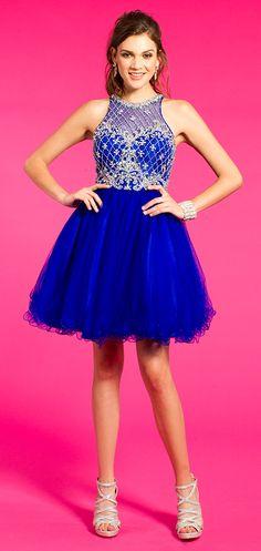 Short Basketweave Beaded Homecoming Dress #camillelavie