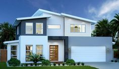 ideas for house exterior colors australia facades House Paint Exterior, Exterior House Colors, Modern Architecture House, Modern House Design, Modern Houses, Modern Exterior, Exterior Design, New Home Builders, Facade House