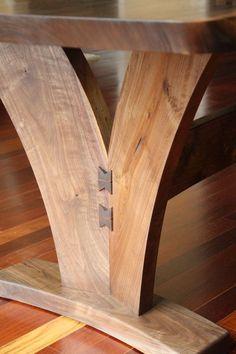 Современные Орех Плиты Обеденный стол с DancingGrains
