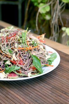 Cold Buckwheat Soba Noodle Salad