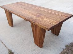 Wooden Industrial Coffee Table - Hand Made - Reclaimed - Distressed - Barn Wood