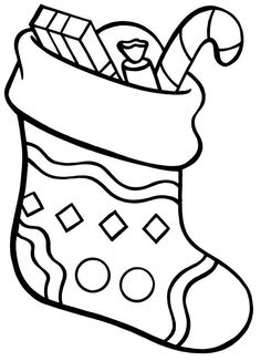 Awesome Christmas Stocking Coloring Pages To Motivate To ...