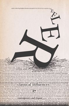 Hoefler and Frere-Jones typographic poster http://www.typography.com/ #graphic_design #typography