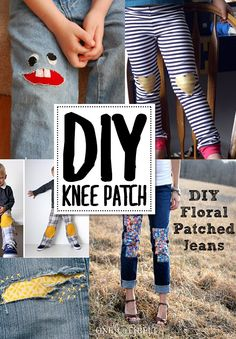 How to patch a hole in your pants | DIY Sewing projects