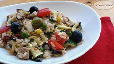 #Insalatadiriso con #tonno e #verdure #ricetta