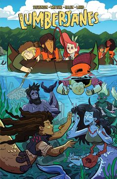 "Band Together (Lumberjanes; 5) by Chynna Clugston-Flores. ""Excited for the annual Bandicoot Bacchanal, Ripley recruits her friends to help her get ready for the dance. But before the Lumberjanes know it, something mysterious begins to bubble to the surface of the lake near camp! Will the Lumberjanes be able to bring peace to the lake in time for the Bacchanal?"" -- (Source of summary not specified)"