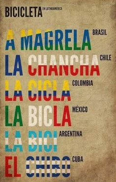 Bicicleta en todos los idiomas. Porque nos gusta pedalear.  @Bicicletas Moma bikes
