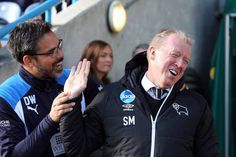 Huddersfield Town 1 Derby County 0, 22.10.16: Head Coach David Wagner and Derby Manager Steve McClaren.