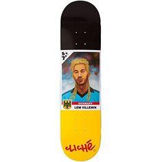 Cliche Lem Villemin Hair Cup R7 Skateboard Deck - Black/Yellow - 7.75 - http://shop.dailyskatetube.com/?post_type=product&p=1851 -     -