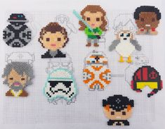 """60 Likes, 7 Comments - Krafticus (@krafticusdesigns) on Instagram: """"I made a few Star Wars Perler bead sprites. One set is going to a friend of mine but I made a few…"""""""