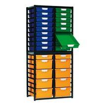 StorSystem Metal Storage Rack w/ 28 Trays