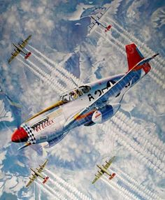 """The Shepherd"" features ""My Buddy"" a P-51C assigned to 1st Lt. Charles P. Bailey of the 99th FS"