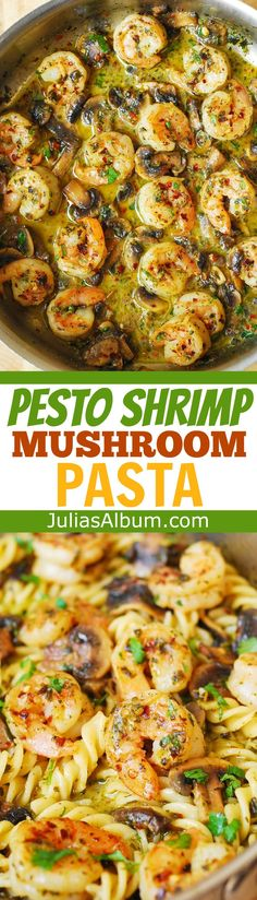 Pesto Shrimp Mushroom Pasta – large shrimp and spiral pasta smothered in a delicious basil pesto sauce! Yummy recipe for the Summer. If you…