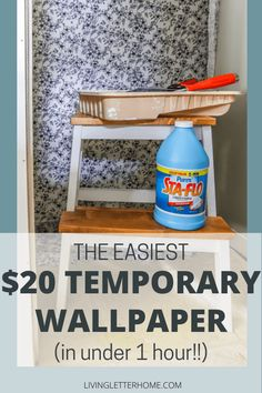 DIY Fabric Wallpaper (that's also removable!) - Living Letter Home