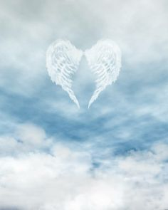 Illustration about White feathered angel wings forming a heart shape on a background of blue sky and clouds. Illustration of peaceful, clouds, peace - 14135128 Birthday In Heaven Quotes, Happy Birthday In Heaven, Angel Clouds, Sky And Clouds, Wings Wallpaper, Feather Angel Wings, Cloud Photos, Ange Demon, Angel Pictures