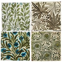 Buy online, view images and see past prices for WILLIAM DE MORGAN FOUR FLORAL TILES, square. Invaluable is the world's largest marketplace for art, antiques, and collectibles. Mark 4, Painting Words, Aesthetic Movement, Tile Patterns, Makers Mark, Surface Design, Make It Simple, Art Decor, Tiles