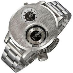 Fashion New Mens Stainless Steel Date Military Sport Quartz Analog Wrist Watch