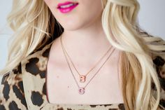 Pave Crystal Initial Necklaces! 75% off!