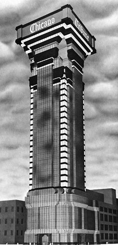 Robert A.M. Stern, Late Entry to the Chicago Tribune Tower Competition, 1980