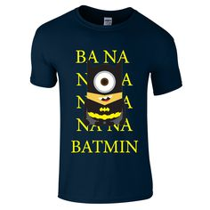 Minion Batman BANANA T-Shirt - Powtees  - 4