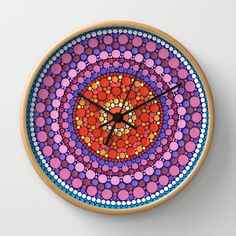 Mandala of Zest Wall Clock