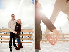 Raelyn and Davie's winter engagement shoot on www.WedLoft.com. Photographed by Ashley King Photography