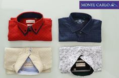 Pick your style as your mood. Classic Shirt Collection from Monte Carlo. Available at E-Store