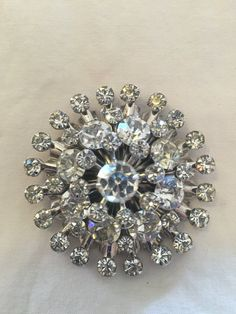Vintage rhinestone brooches unsigned excited
