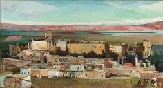 Csontváry Kosztka Tivadar Baalbek, 1906 oil on canvas painting cm Amazing Paintings, Modern Art Paintings, Landscape Paintings, Baalbek, Temple Ruins, Painting & Drawing, Oil On Canvas, Old Things, Drawings