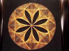 Tableau fils tendus string art rosace orange/jaune 70's 1970 vintage Strings, String Art, Abstract Wall Art, Cool Photos, Amazing Photos, Fractals, Craft Projects, Decorative Plates, Orange