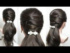 These easy hairstyles for medium hair truly are trendy. These easy hair Easy Party Hairstyles, Easy Everyday Hairstyles, Easy Hairstyles For Medium Hair, Daily Hairstyles, Hairstyles Haircuts, Trendy Hairstyles, Medium Hair Styles, Braided Hairstyles, Curly Hair Styles