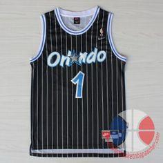 maillot de basket pas cher Orlando Magic Hardaway #1 Noir mesh tissu