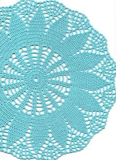 Crochet doily, lace doily, table decoration, crocheted place mat, center piece,doily tablecloth, turquoise, napkin, aqua, handmade doilies