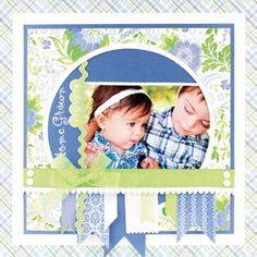 Love the colors of this scrapbook page!