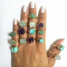 Gemstone overdose ✨ #gemstone rings designed by @wish_co available on www.siriri.co free worldwide shipping #siririshop